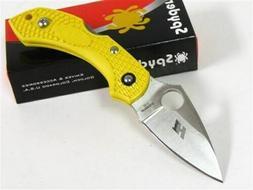 Spyderco Dragonfly 2 Plain Edge Folding Knife, Yellow