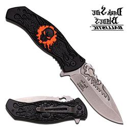 Dark Side Blades Knives DS-A024OR Spring Assisted Pocket Cli