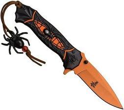 Dark Side DSA036OR Spider Assisted Open Orange Folding Knife