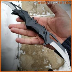 Dual Spring Black Batman Knife Assisted Folding Blade Pocket