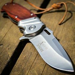 """8"""" ELK RIDGE Wood Gentleman SPRING ASSISTED OPEN Hunting Fol"""