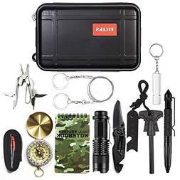 EILIKS Emergency Survival Gear Kits 14 in 1, Outdoor Emergen