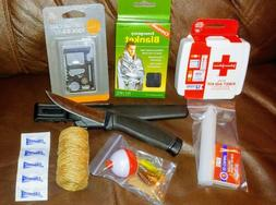 Emergency Survival Kit for Car Trunk. Knife, MultiTool, Fish