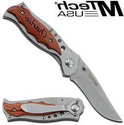 MTECH USA Free Engraving - Personalized Knife Pocket Knife
