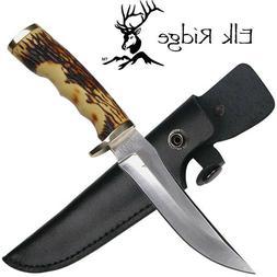Elk Ridge ER-027 Fixed Blade Knife, 4.5-Inch Stainless Steel