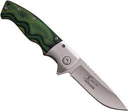Elk Ridge ER-A010SGN-MC ER-A010SGN Folder Knife with Pocket