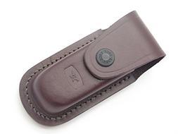 Buck 598 588 Ergo Pro Brown Leather Folding Hunter Knife She
