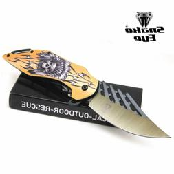 Snake Eye Tactical Every Day Carry Fantasy Skull Design Fold