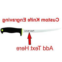 "KERSHAW 9"" FILLET 1259 FIXED BLADE KNIFE CUSTOM ENGRAVING"