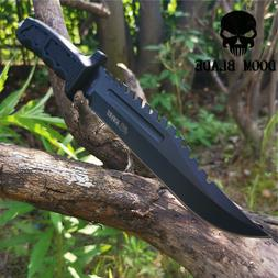Fixed Blade Knife Camping Hunting Army Survival Outdoor Tool
