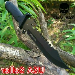 Fixed Blade Knife Sharp Camping Hunting Survival Tactical Mi