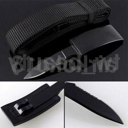 Fixed Nylon-Belt Blade Knife Tactical Camping Survival Urgen