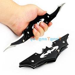 Folding Cool Pocket Dark Knight Black Batman Double Blade Bl