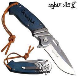 Free Engraving - Quality Elk Ridge Personalized Pocket Knife