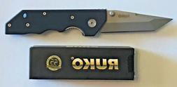 "RUKO G10 Handle 3.50"" Plain Edge Tanto Blade Folding Knife 4"