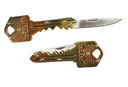 Gold Folding Pocket Key Knife 1.5-Inch Stainless Steel Drop
