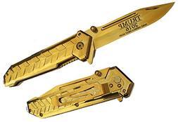 "9"" GOLD HEAVY DUTY Blade TRUMP 2016 Commemorative Limited Ed"