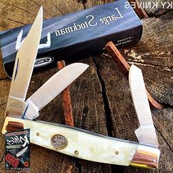 Grand Dads WHITE Large Stockman 3 Blade Pocket Elite Knife 4