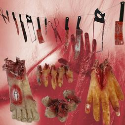 Halloween Decorations Outdoor12 pc Bloody Knife 4pc Body Par