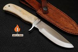 Handmade Damascus Steel Full Tang Skinner Hunting Outdoor Kn