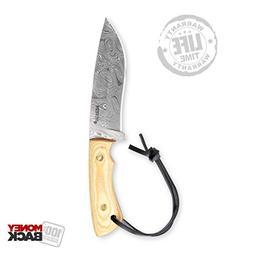 Hunting Knife - Handmade Damascus Hunting Knife Full Tang -