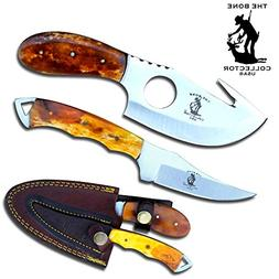 """Bone Collector Hunting Knife Two Piece Set, 7"""" Straight Edge"""