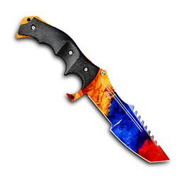 CIMA Huntsman CS:GO Knife, Multi-Color Full Tang Fixed Blade