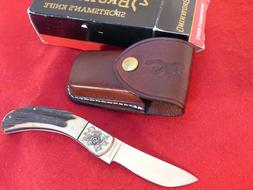 japan stag skinner lockback model 509 engraved