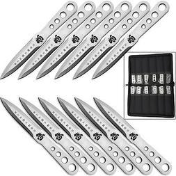 Japanese Shinobi Throwing Knife SET 12 Knives Steel NINJA Ku