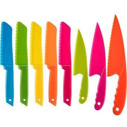 Jovitec 8 Pieces Kid Plastic Kitchen Knife Set, Children's S