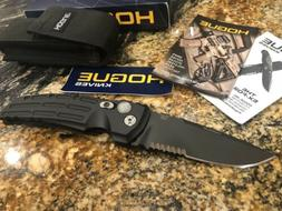 "Hogue Knife Folder 3.5"" Black Drop Point Blade Military US"