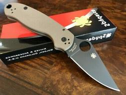 Spyderco Knife Para 3 PM3 Earth Brown FDE S35VN Black Blade