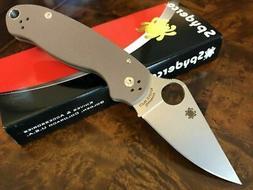 Spyderco Knife Para 3 PM3 Paramilitary 3 Earth Brown FDE S35