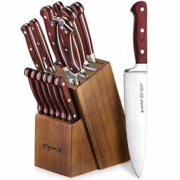 knife set 15 piece kitchen knife set