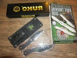 RUKO KNIFE SET 3 THROWING KNIVES AND GUIDE NEW
