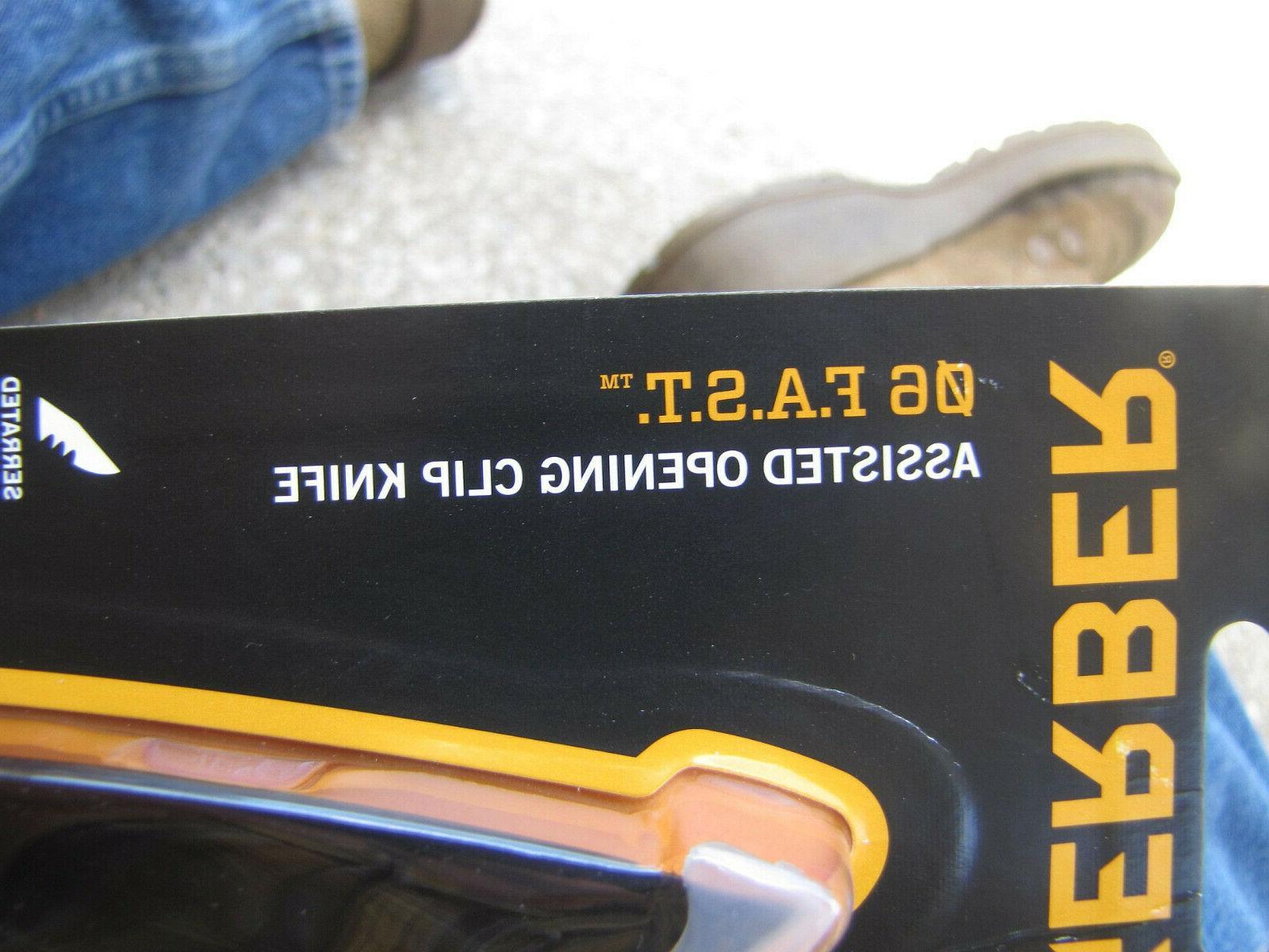 Gerber Pocket Knife, Black Tanto, Assisted Open. Box.