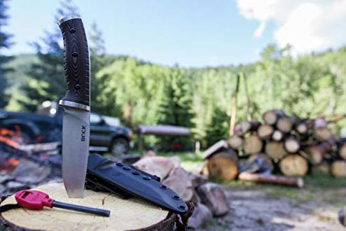 Buck Knives 863 Selkirk Fixed Knife Fire Striker Sheath