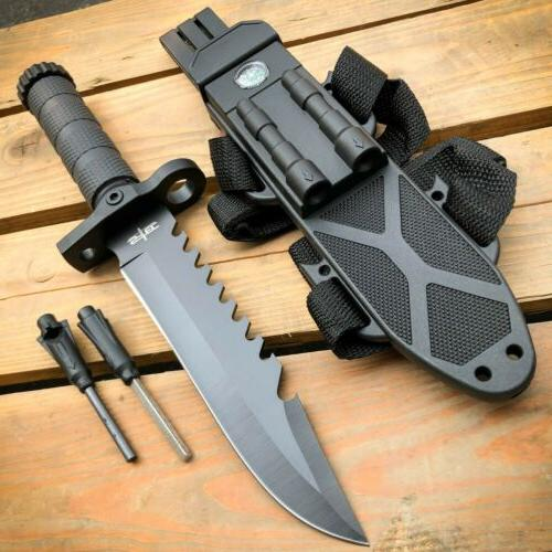 """12.5"""" MILITARY TACTICAL FIXED BLADE Hunting  Army  SURVIVAL"""