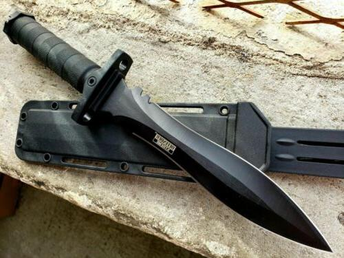 """13.5"""" Military Black Tactical Survival FIXED BLADE"""