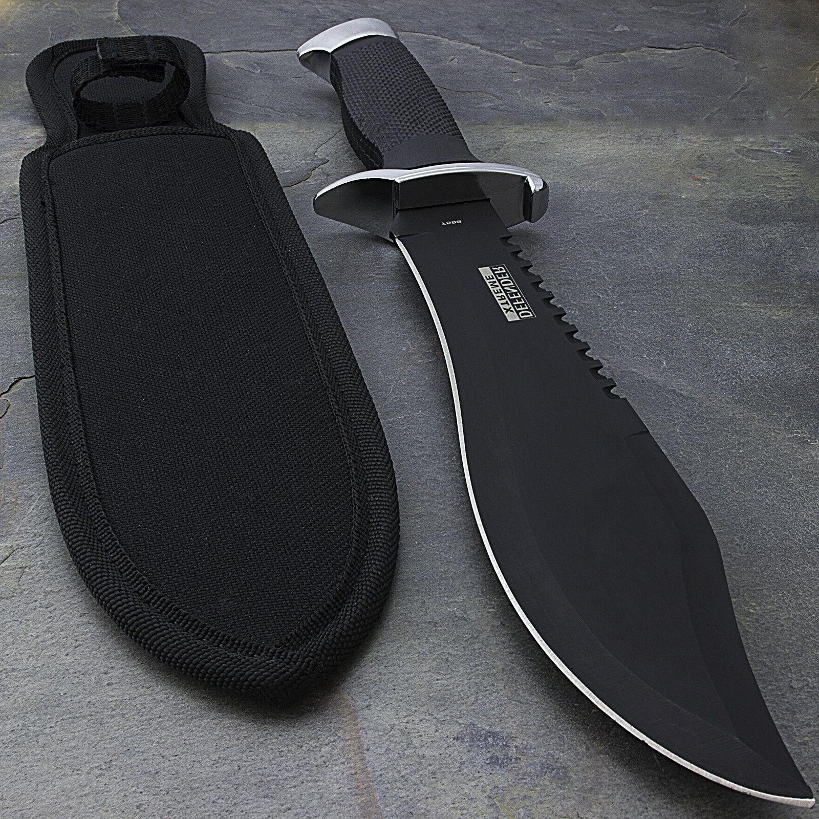 13 bowie survival hunting knife w sheath