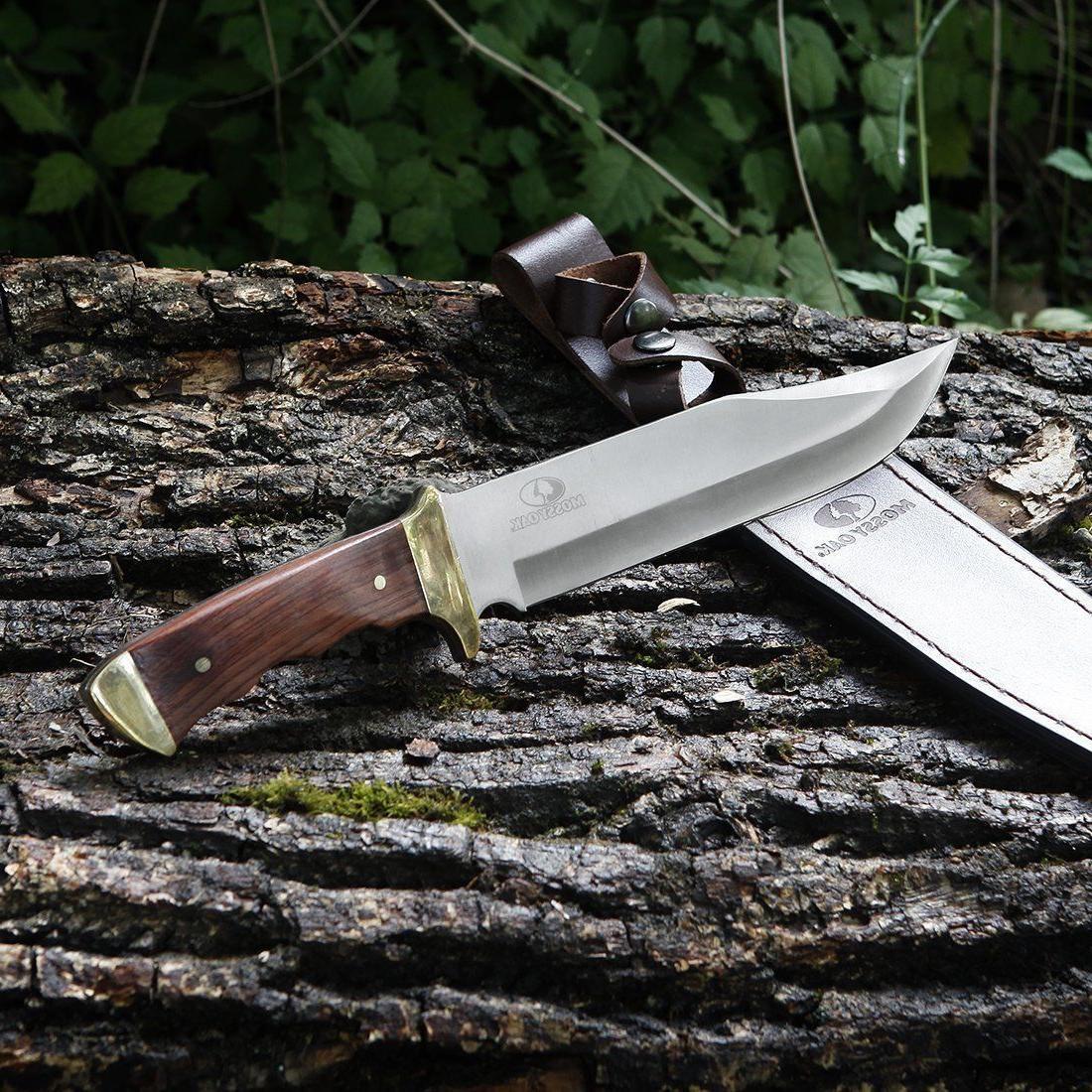 MOSSY OAK 14-inch Knife Wood Leather Sheath