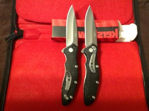 2 lot kershaw spring assisted knife speed