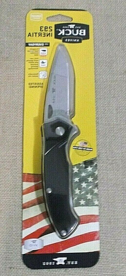 Buck 293 Assisted Opening Folding Knife w/ Clip Made