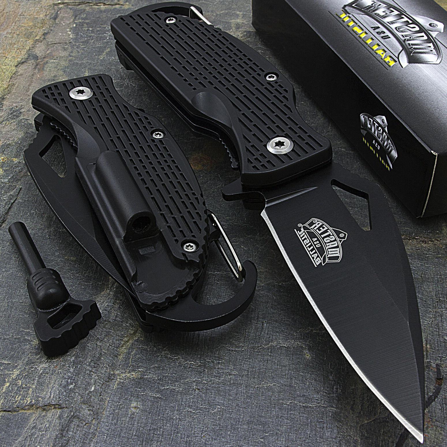 "6.5"" MASTER USA SPRING ASSISTED TACTICAL FOLDING POCKET KNIF"