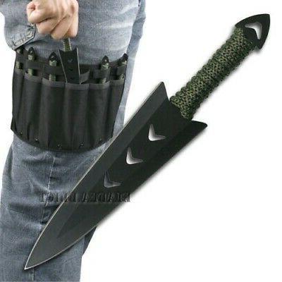 6PC Ninja Naruto Tactical Combat Hunting Kunai Throwing Knif