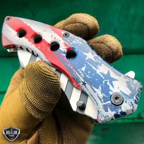 "8.25"" AMERICAN USA Tactical Cleaver Folding Pocket Knife"