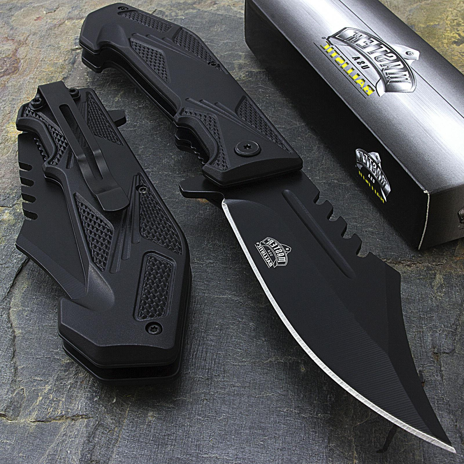 "8.5"" MASTER USA SPRING ASSISTED TACTICAL FOLDING POCKET KNIF"
