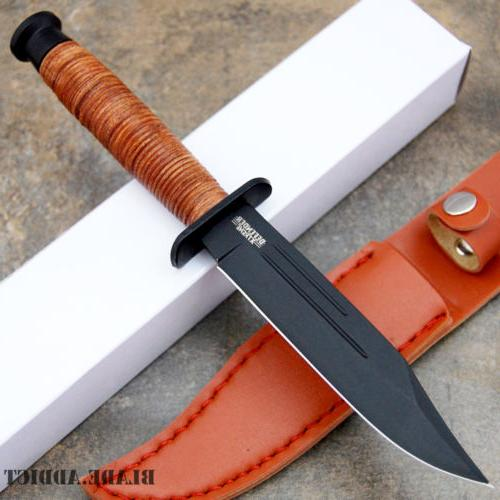 """9"""" Fixed Blade w/ Bowie"""