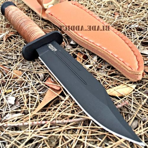 """9"""" Tactical Combat Survival Fixed Blade Hunting Knife w/ She"""