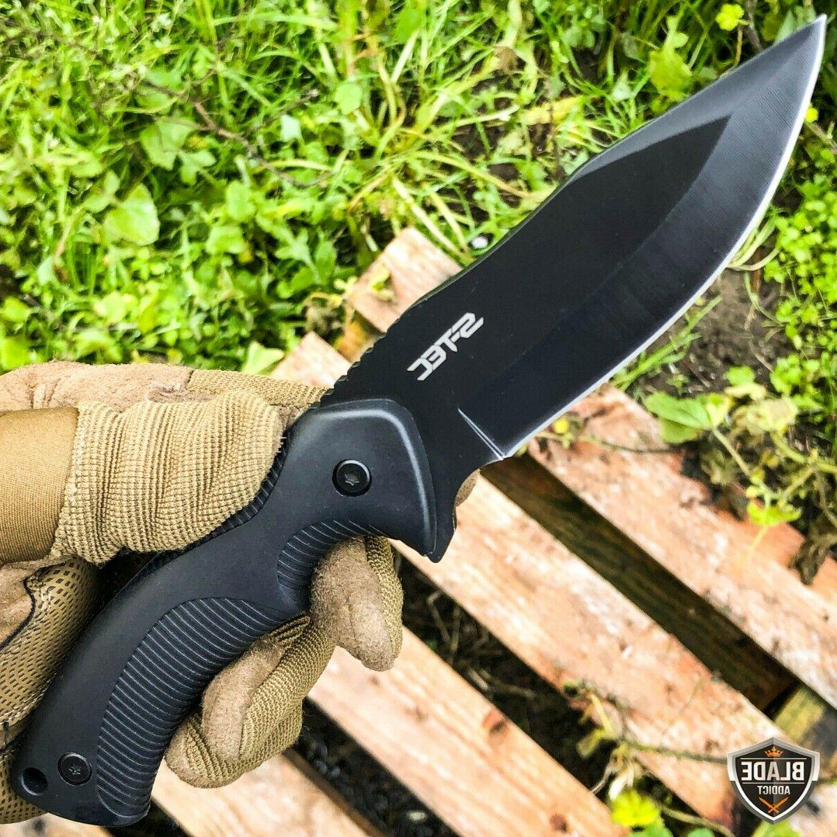 """9"""" Fixed Black Blade Tactical Hunting ABS Sheath"""